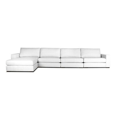 Brose Modular Sectional Upholstery: White, Orientation: Left Hand Facing