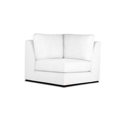 Steffi Right Arm L-Shape Left Sectional with Ottoman Upholstery: White, Orientation: Right Hand Facing