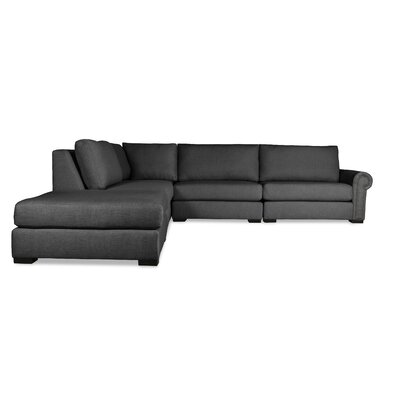 Lebanon Sectional Upholstery: Charcoal, Orientation: Left Hand Facing