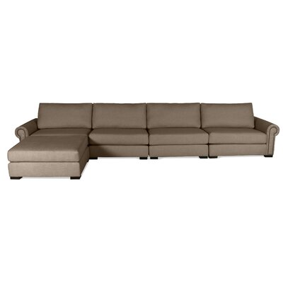 Lebanon Sectional Upholstery: Brown, Orientation: Right Hand Facing
