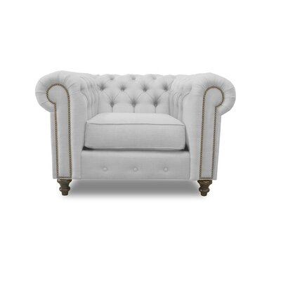 Hanover Chesterfield Chair Upholstery: White