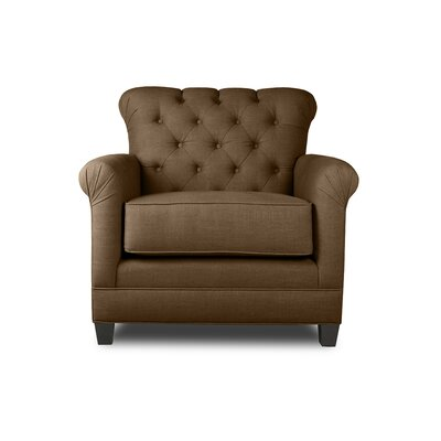 Monza Armchair Upholstery: Brown