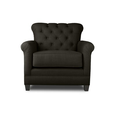 Monza Armchair Upholstery: Charcoal