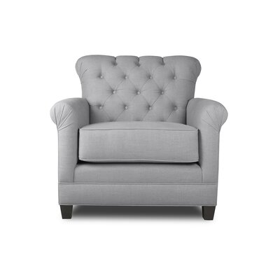Monza Armchair Upholstery: Grey