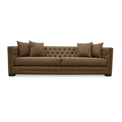 Bari 94 Chesterfield Sofa Upholstery: Brown