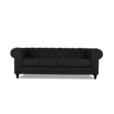 Hanover Tufted 72 Chesterfield Sofa Upholstery: Charcoal