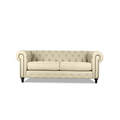 Hanover Tufted 72 Chesterfield Sofa Upholstery: Sand