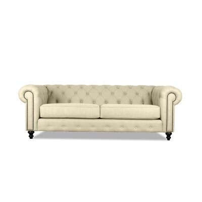 Hanover Tufted 90 Chesterfield Sofa Upholstery: Sand