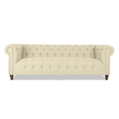 Arthur Tufted Chesterfield Sofa Upholstery: Sand