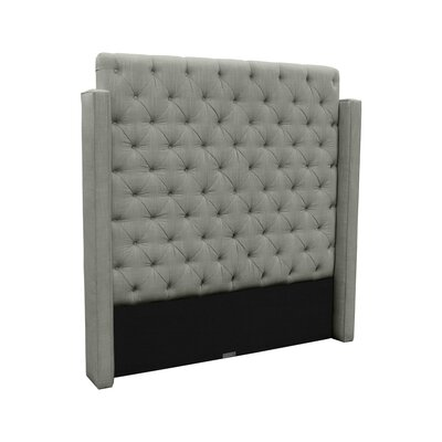 Franck Upholstered Wingback Headboard Size: King, Upholstery: Gray