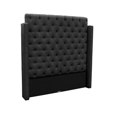 Franck Upholstered Wingback Headboard Size: King, Upholstery: Charcoal