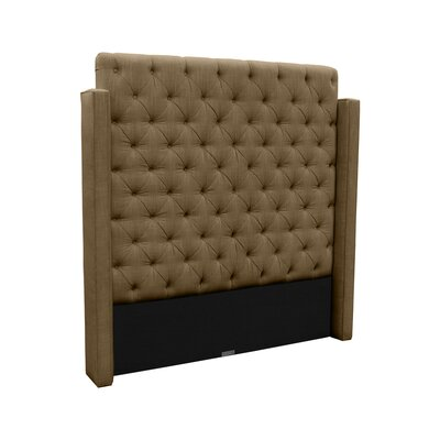 Franck Upholstered Wingback Headboard Size: Queen, Upholstery: Brown