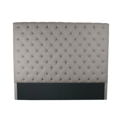Franck Upholstered Panel Headboard Size: Queen, Upholstery: Gray
