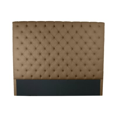 Franck Upholstered Panel Headboard Size: King, Upholstery: Brown