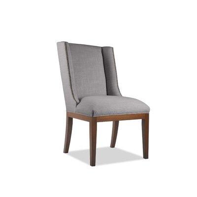 Harper Side Chair Upholstery: Gray, Finish: Cognac