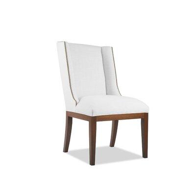 Harper Side Chair Upholstery: White, Finish: Cognac