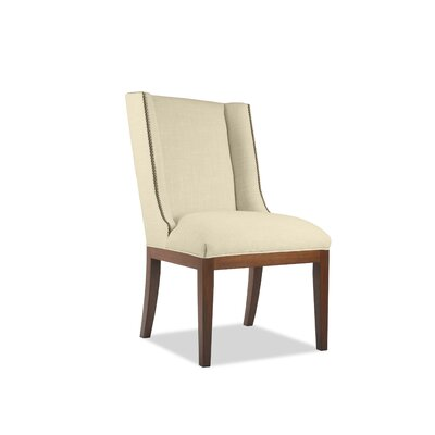 Harper Side Chair Upholstery: Sand, Finish: Cognac
