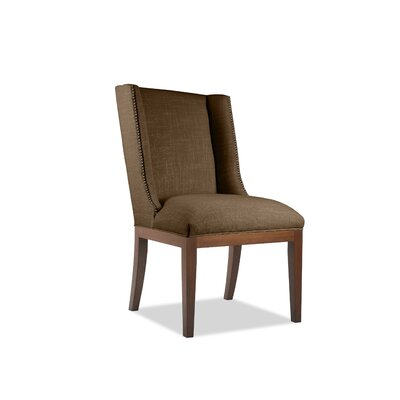 Harper Side Chair Upholstery: Brown, Finish: Cognac