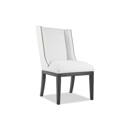 Harper Side Chair Upholstery: White, Finish: Gray