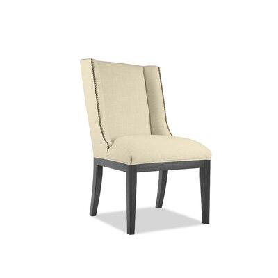 Harper Side Chair Upholstery: Sand, Finish: Gray