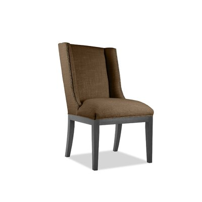 Harper Side Chair Upholstery: Brown, Finish: Gray
