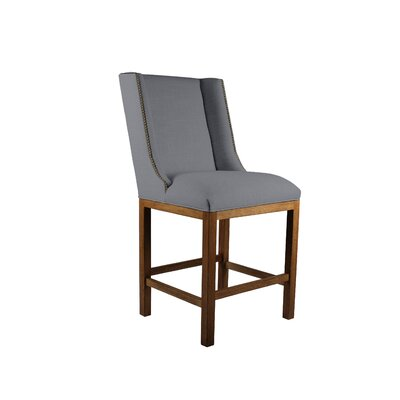 Harper 30 Bar Stool Upholstery: Gray, Finish: Gray