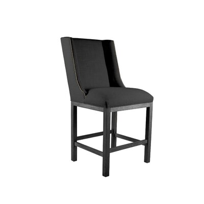 Harper Side Chair Upholstery: Charcoal, Finish: Gray