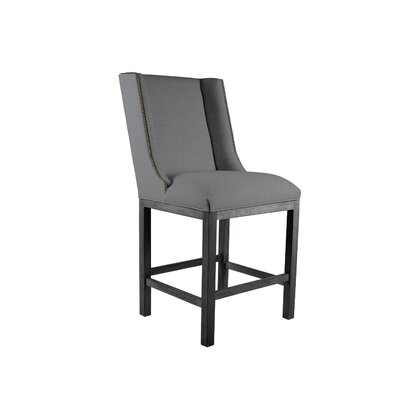 Harper 26 Bar Stool Upholstery: Gray, Finish: Gray
