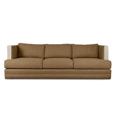 Marion Vintage Linen Sofa Finish: Brown