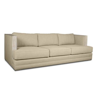 Marion Vintage Linen Sofa Finish: Sand