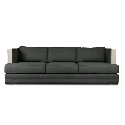Marion Vintage Linen Sofa Finish: Charcoal