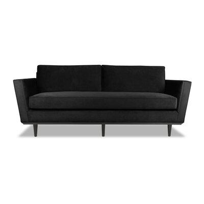 Clayton 72 Sofa Upholstery: Black