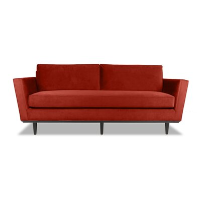 Clayton 60 Sofa Upholstery: Red