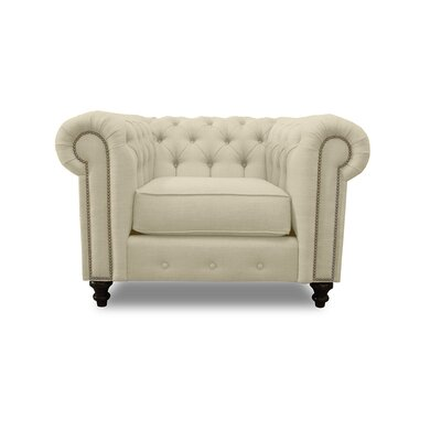 Hanover Chesterfield Chair Upholstery: Sand