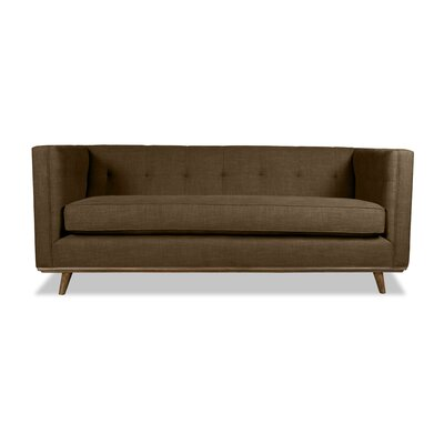 Grace 94 Chesterfield Sofa Upholstery: Brown