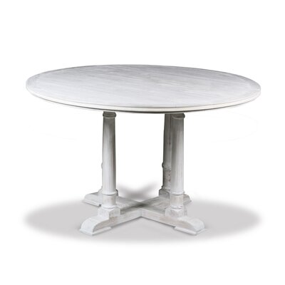 Carmel Pub Table Finish: Dry White, Size: 42 H x 42 L x 42 W