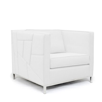 Lawrence Convertible Chair Upholstery: White