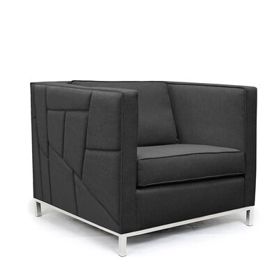 Lawrence Convertible Chair Upholstery: Charcoal