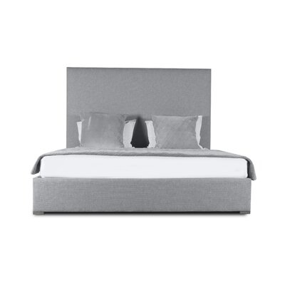 Handley Upholstered Platform Bed Color: Gray, Size: Mid Height California King