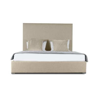 Handley Plain Upholstered Panel Bed Color: Sand, Size: High Height King