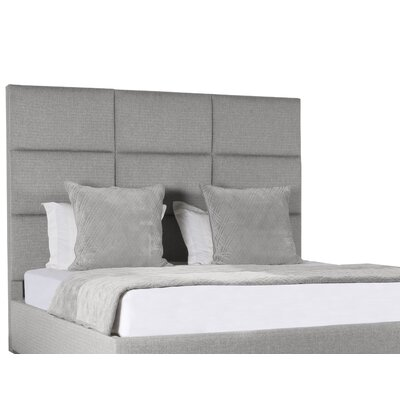 Handley Square Tufted Upholstered Panel Bed Color: Gray, Size: High Height King