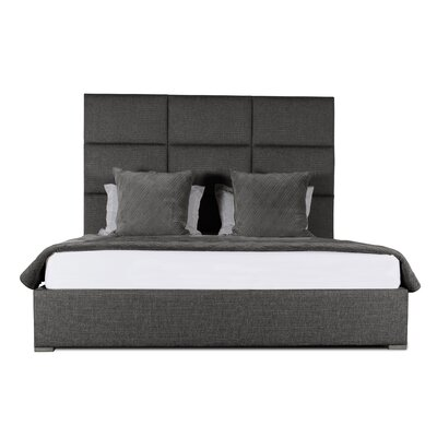 Handley Square Tufted Upholstered Panel Bed Color: Charcoal, Size: Mid Height King