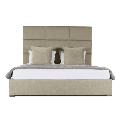 Handley Square Tufted Upholstered Panel Bed Color: Sand, Size: Mid Height Queen