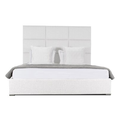 Handley Square Tufted Upholstered Panel Bed Color: White, Size: Mid Height Queen