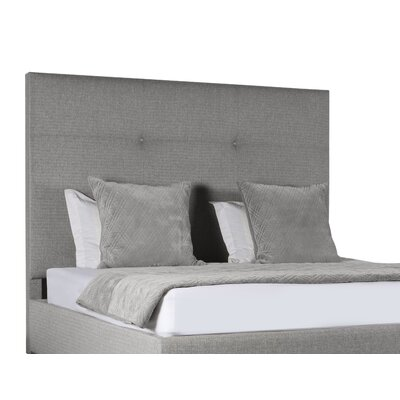 Handley Simple Tufted Upholstered Panel Bed Color: Gray, Size: High Height California King
