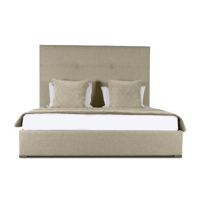 Handley Simple Tufted Upholstered Panel Bed Color: Sand, Size: Mid Height Queen