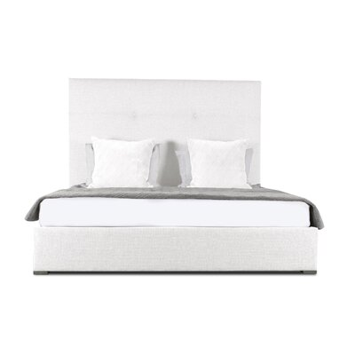 Handley Upholstered Platform Bed Color: White, Size: High Height California King