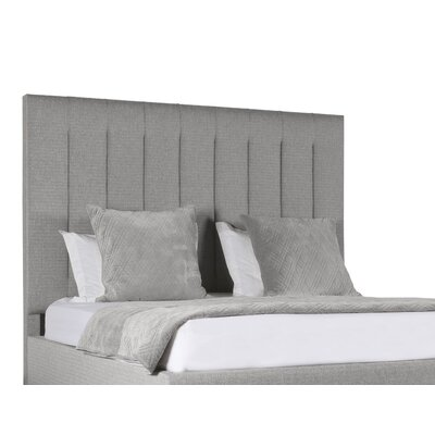 Handley Vertical Channel Tufting Upholstered Panel Bed Color: Gray, Size: Mid Height California King