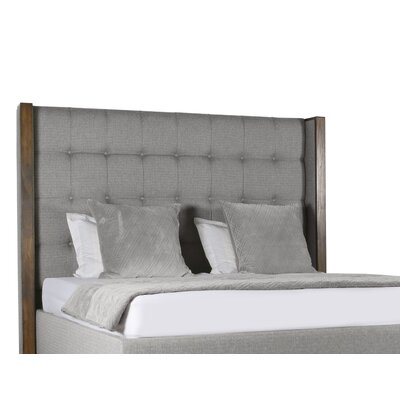 Hank Box Tufting Upholstered Panel Bed Color: Gray, Size: High Height California King