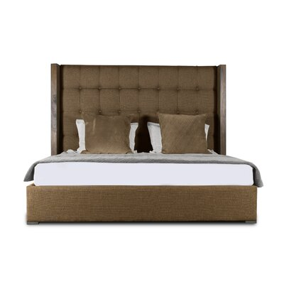 Hank Box Tufting Upholstered Panel Bed Color: Brown, Size: Mid Height California King